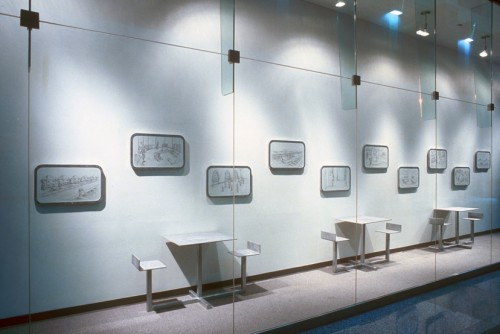 Weather Girl 1996 (installation view at 100 Yonge St, 1996)